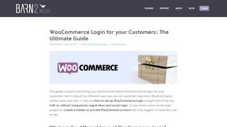 WooCommerce Login for Customers: The Ultimate Guide - Barn2 Media