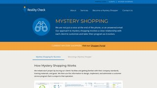 Mystery Shopping - Reality Check Mystery Shoppers