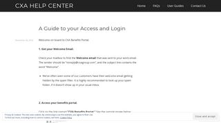 A Guide to your Access and Login – CXA Help Center