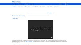 CyberDuck - Account Login - Bluehost
