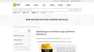 Uploading your web files using Cyberduck (Windows) - Doteasy.com