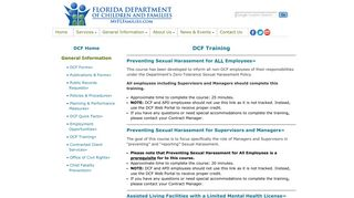 DCF Training - Florida Department of Children and Families