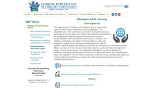 Florida Department of Children and Families - Background Screening ...