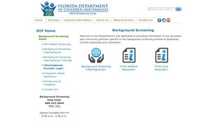 Florida Department of Children and Families - Background Screening
