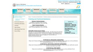 Training and Technical Assistance - DCF
