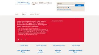 WA State DCS Prepaid Debit Card - Home Page - BankofAmerica