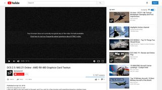 DCS 2.5: MiG 21 Online - AMD RX 480 Graphics Card Testrun ...