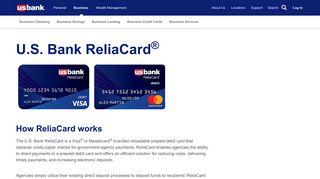 ReliaCard®: Prepaid Card | U.S. Bank