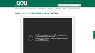 Online Banking Log In Video | DCU |Massachusetts | New Hampshire