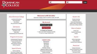 Dominican College Portal: Guest Home
