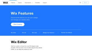 Powerful Features for Your Website | Wix.com