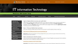 Degree Works student - RITE - Buffalo State