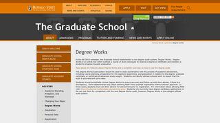 Degree Works | The Graduate School | SUNY Buffalo State