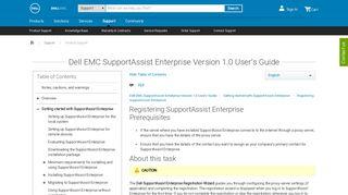 Dell EMC SupportAssist Enterprise Version 1.0 User's Guide