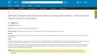 Dell EMC SupportAssist Enterprise (Server, Storage, Networking ...