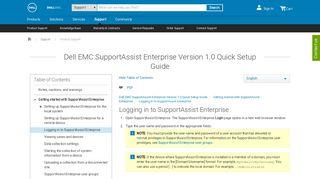 Dell EMC SupportAssist Enterprise Version 1.0 Quick Setup Guide
