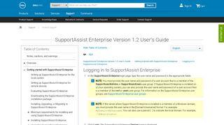 SupportAssist Enterprise Version 1.2 User's Guide - Dell