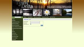 Town of Delta, Bayfield County, Wisconsin Admin Panel : Login