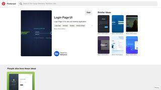 Login Page UI for web and desktop application. | Desktop | Pinterest ...