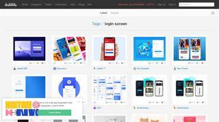 Login Screen Designs on Dribbble