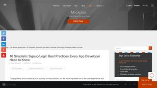 16 Simplistic Signup/Login Best Practices Every App Developer Need ...