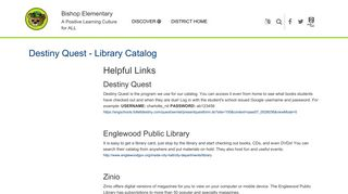 Destiny Quest - Library Catalog | Englewood Schools