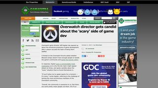 Overwatch director gets candid about the 'scary' side of game dev