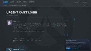 Urgent can't login - Technical Support - Overwatch Forums ...