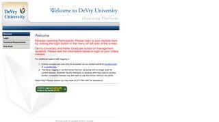 DeVry University   WELCOME