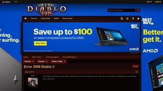 Error 3006 Diablo 3 - Technical Support - Blizz Tracker - DiabloFans