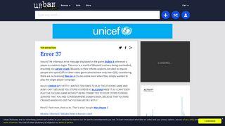 Urban Dictionary: Error 37