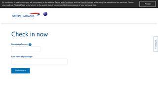 British Airways - Online Check-in