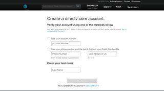 Create & Register Your DIRECTV.com Account | DIRECTV