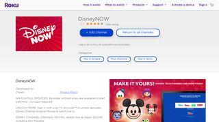 DisneyNOW   Roku Channel Store   Roku