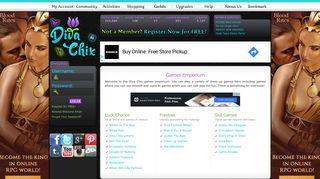 Games Emporium - Dress Up Games | Diva Chix: The Fashionista's ...