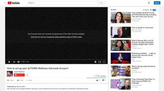 How to set up your doTERRA Wellness Advocate Account - YouTube