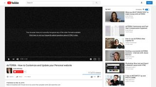 doTERRA - How to Customize and Update your Personal website ...