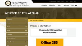 Welcome to CDU Webmail   Charles R. Drew University of Medicine ...