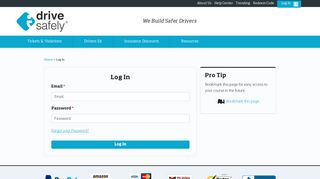 I Drive Safely – Existing Student Login Page – Student Sign In