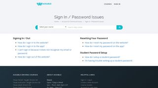 Sign In / Password Issues - Aceable Help Center