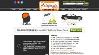 My California Permit Drivers Ed   Online DMV Driving Course