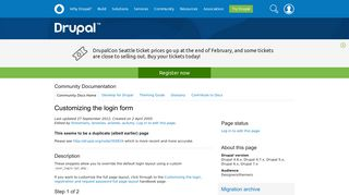 Customizing the login form   Drupal.org