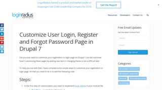 Customize User Login, Register and Forgot Password Page in Drupal 7