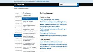 Driving licences - GOV.UK