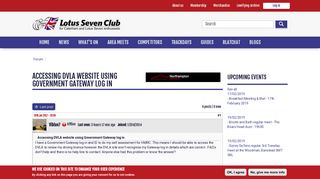 Accessing DVLA website using Government Gateway log in | Lotus ...