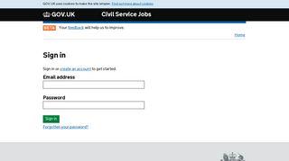 Sign in - Civil Service Jobs - GOV.UK