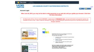 User Log In - Los Angeles County Department of Public Works