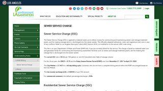Sewer Service Charge - LA Sanitation