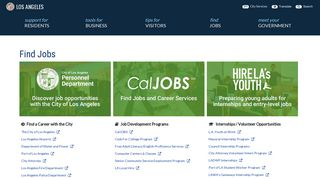 Find Jobs   City of Los Angeles