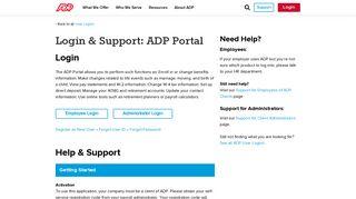 Login & Support | ADP Portal | ADP Self Service Portal - ADP.com